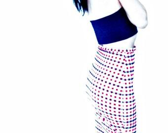 High waist stretch pencil skirt