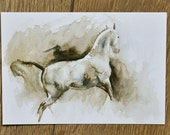 Horse in its tracks Postcard