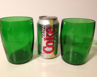 Perrier Recycled Bottle Large Tumbler Glasses - Set of 2