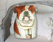 English Bulldog Pillow - Three Sided Stuffed Animal