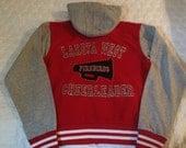 Custom Varsity Hooded Sweatshirt Jacket wtih Glitter and Rhinestones