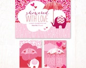 Showered with Love Baby Shower - Instant Download PRINTABLE Party Signs (Pink)