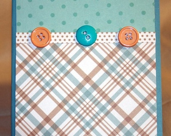 Teal and Brown Card for Any Occasion  20140159
