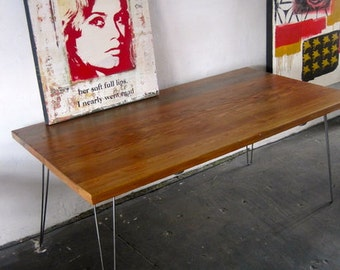 Reclaimed Wood/Steel Dining Table. made in Los Angeles.