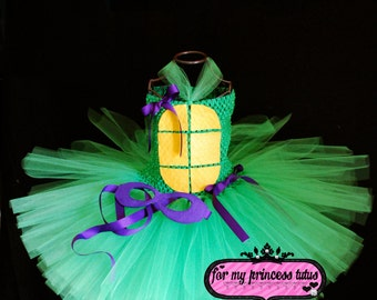 Ninja Turtle Tutu Dress  -  infant tutu, baby tutu, dress up tutu, Halloween tutu, 1st birthday tutu, princess tutu, dance tutu, tutu