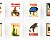 Any 4 Guinness Prints from our Store. Instant Collection of Original Book Plates Ireland Brewerania Advert Pint Toucan Gilroy Illustration