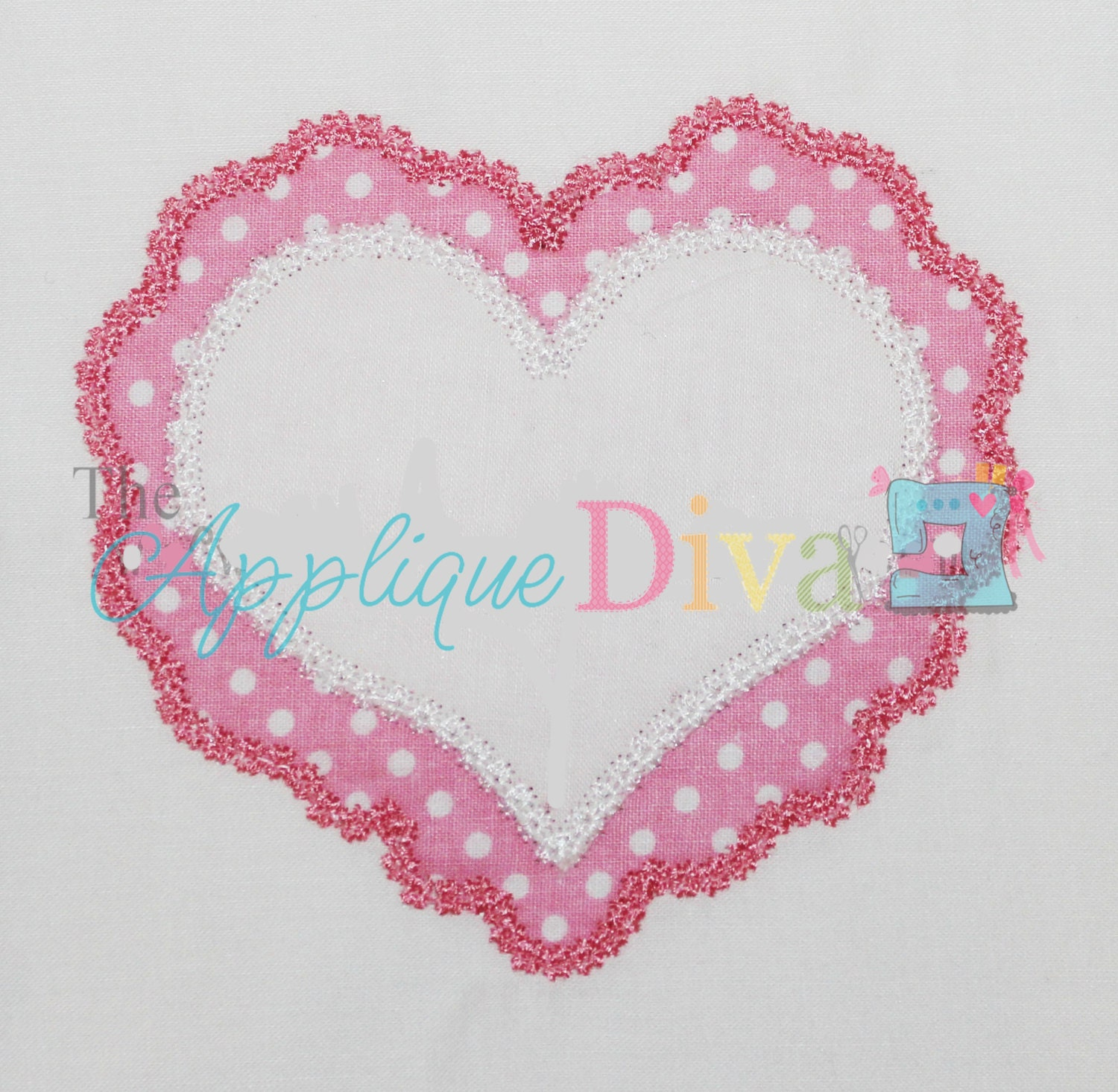 Valentine s day lace heart embroidery design machine