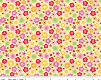 SALE - Ladybug - Flowers Yellow by Doodlebug Designs from Riley Blake