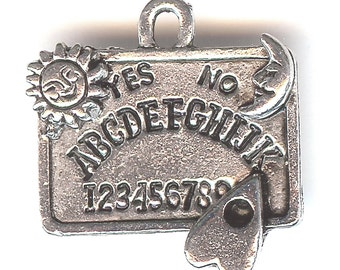 OUIJA BOARD Charm. Pewter. 3D. Weegie Board. Made in the USA.