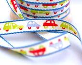 Woven Ribbon cars, 1 cm width, 2 Meters (2.18 yard)
