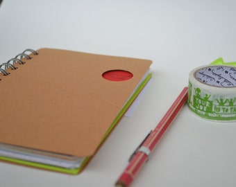 One Of A Kind Wire-Bound Recycled Notebook