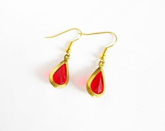 Legend of Zelda Inspired Red Drops Earrings