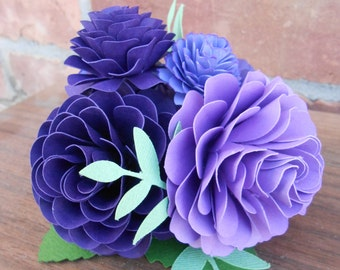 Paper Flower Cake Topper. CHOOSE YOUR COLORS. Weddings, Showers, Paper Flowers, Decoration