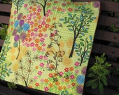 "14 x 14"" Pillow Cover - Whimsical Wonderland Garden Where Alice would feel Right at Home"
