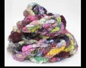 Circus Maximus - Handspun Bulky Yarn - 3 ply Super Colorful Super Textured Handspun Art Yarn