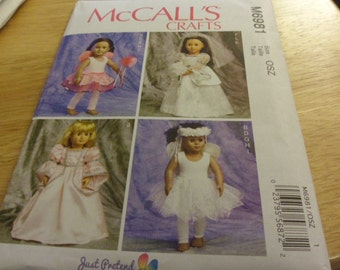 McCalls' Pattern M6981 18 inch doll clothes