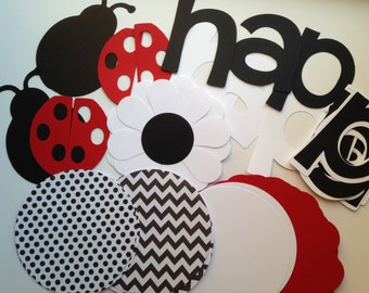 DIY Ladybug Birthday Banner Kit