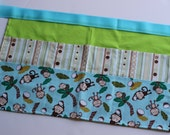 Classroom Apron-  Monkey Business (green & blue)
