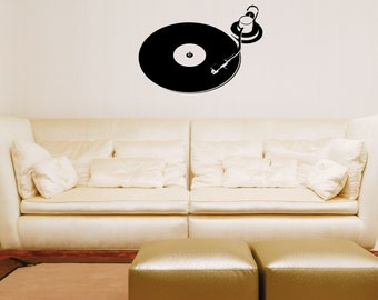 Turntable wall decal