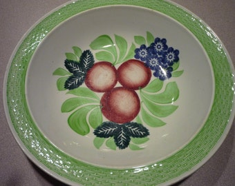 Antique Bowl Wm Adams Co. Tunstall England Fruit Bowl Dish Serving