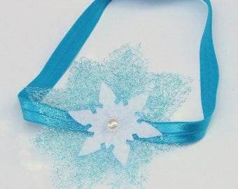 Elsa snowflake headband - frozen headband - frozen hair accessory - frozen snowflake hairband - elsa hair