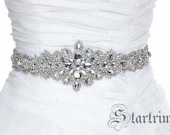 SALE CHLOE wedding swarvoski  crystal sash , belt