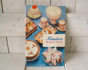 Vintage cookbook retro Knutsen Dairy recipes  color food photos illustrations 1962