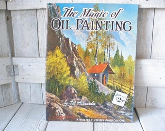 Vintage oil painting book landscapes art instruction Walter Foster 1960s