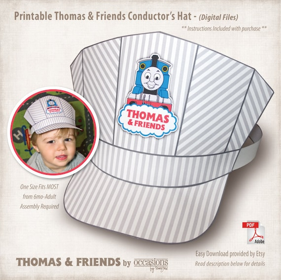 Conductor hat template 28 images steel wheels coloring sheet conductor hat template instant printable the by pronofoot35fo Gallery