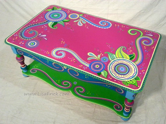 Hand Painted Furniture Custom Made to Order Custom Painted