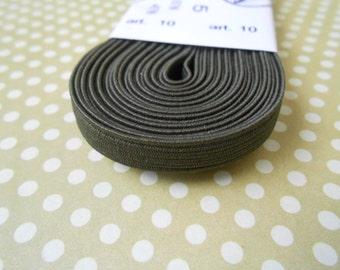 "Elastic Skinny Headband Olive Green 1/4""width 5MT."
