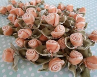 Roses Velvet Peach Pink 10 pcs