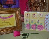 """BEAUTY and the BEAST Princess Belle Girl Birthday Party Printable 2"""" favor thank you tags Instant Download"""