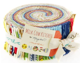 Sale Milk Cow jelly roll from Mary Jane for Moda fabric