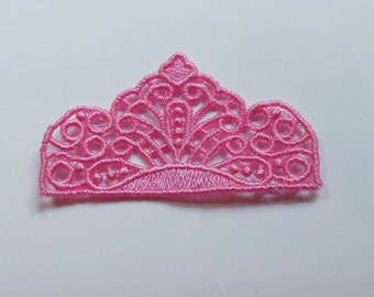 Lace Applique for Crafts or Crazy Quilt - Tiny Tiara 3