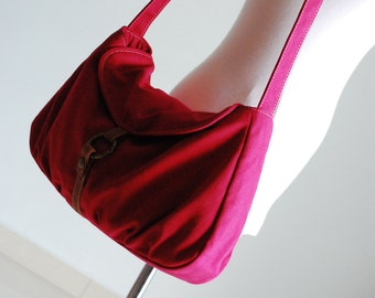 Christmas in July SALE- Crossbody Bag, Fortuner-S, Rose Red, Purse, Laptop Bag, Shoulder Bag, Messenger Bag, Diaper Bag, Women,   40% OFF