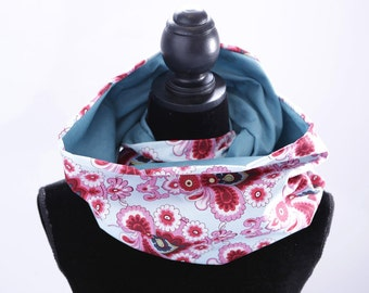 Infinity scarf Colorful Flowers