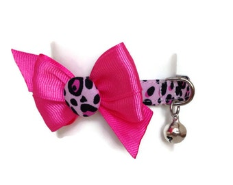 Pink Leopard Dog Cat Itty Bitty Breakaway Collar