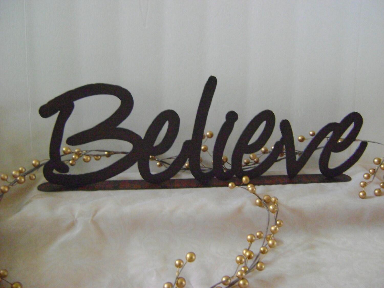 Believe word art wall art metal words phrases zoom amipublicfo Gallery