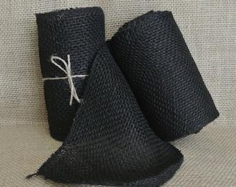 Black Burlap Ribbon