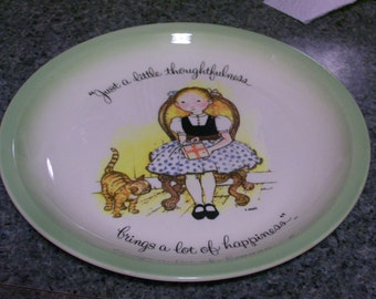 Holly Hobbie Plate Vintage Just a Little Thoughtfulness...Collectors Edition