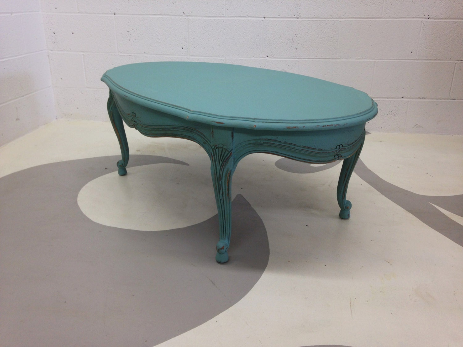 French Style Turquoise Coffee Table