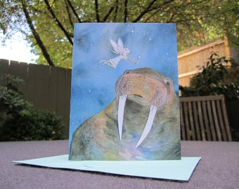 Walrus & Fairy Holiday Cards - Set of ten