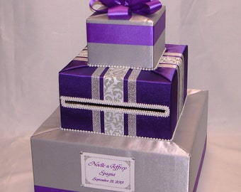 Elegant Custom Made Wedding Card Box-any color/design