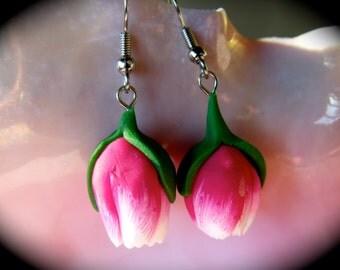 Pink Tulip earrings