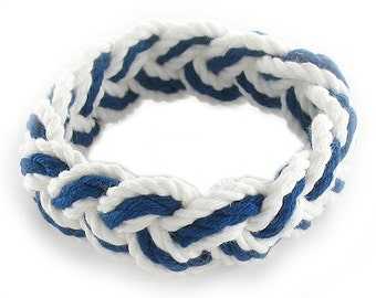 Navy and White Sailor Friendship Bracelet