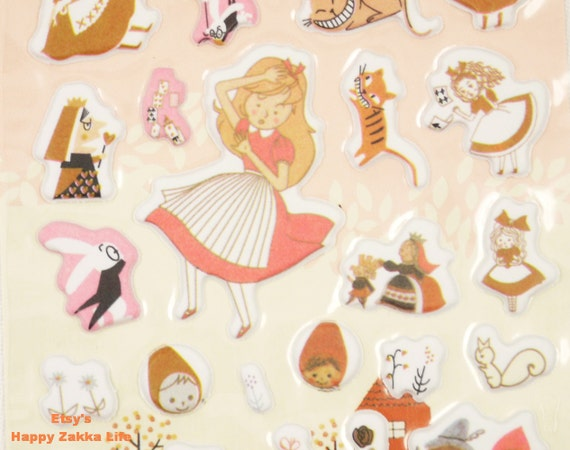 Alice - Yoofen Puffy Sticker - 3D PVC Deco Sticker - 1 Sheet