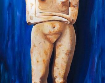 Cycladic Figure Print, 5 x 10 in
