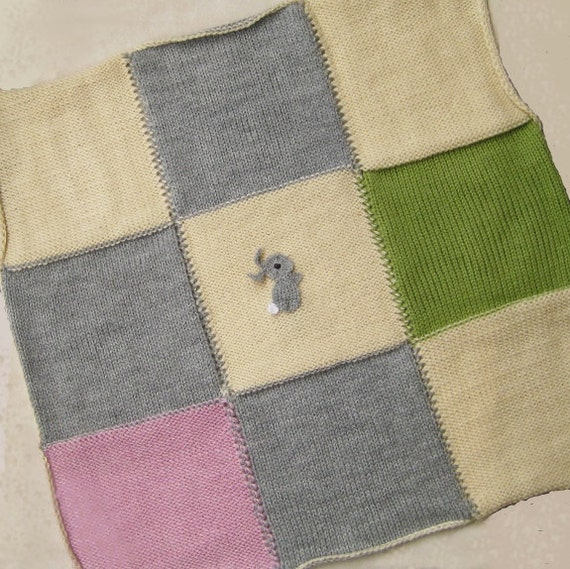 gestrickte baby decke primitiven flickwerk hase afghan acryl. Black Bedroom Furniture Sets. Home Design Ideas