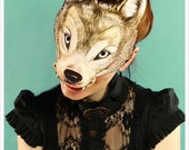 WOLF Mask by Carousel Ink - Victorian Paper MASK - Halloween Mask